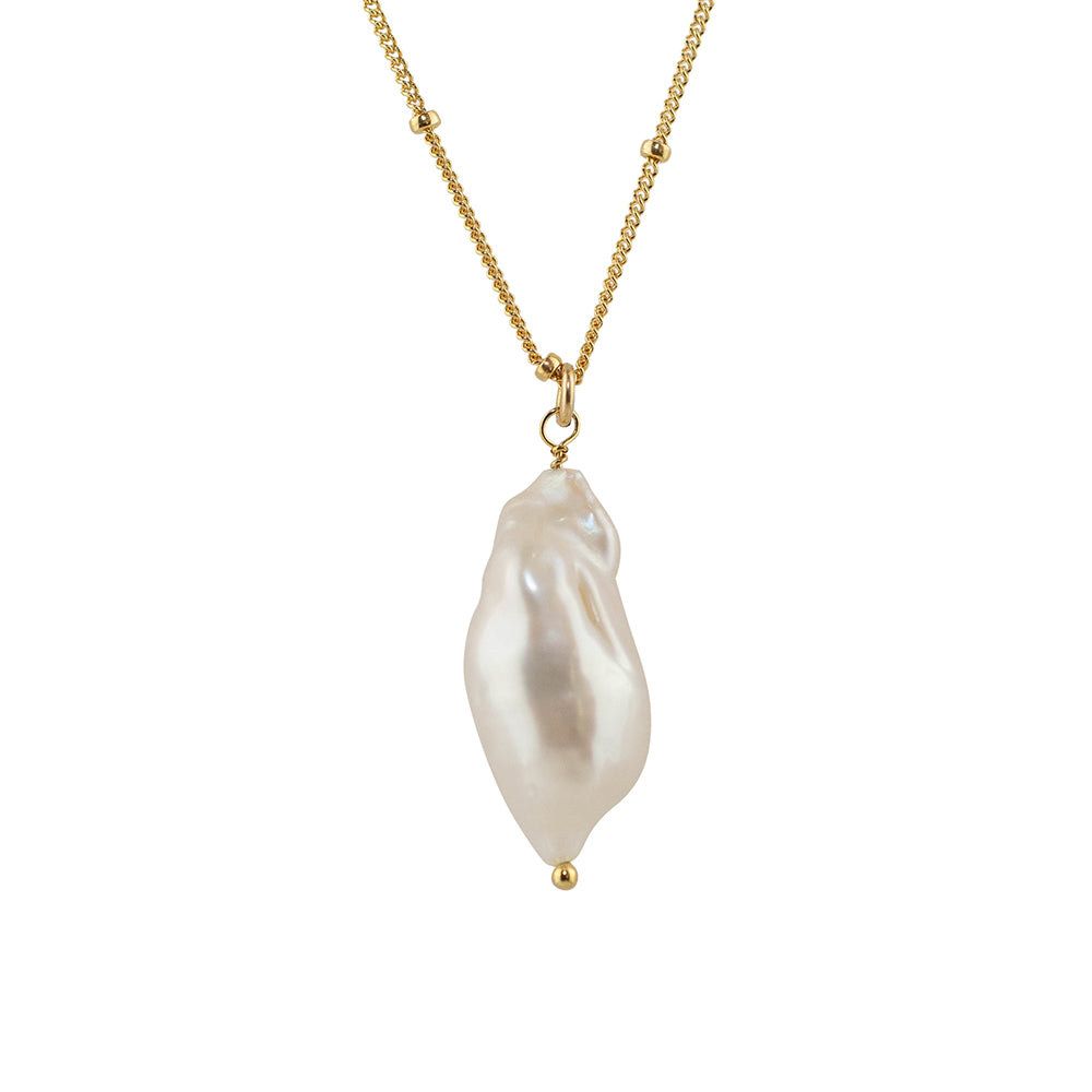 Fresh Water Baroque Pearl Pendant Necklace