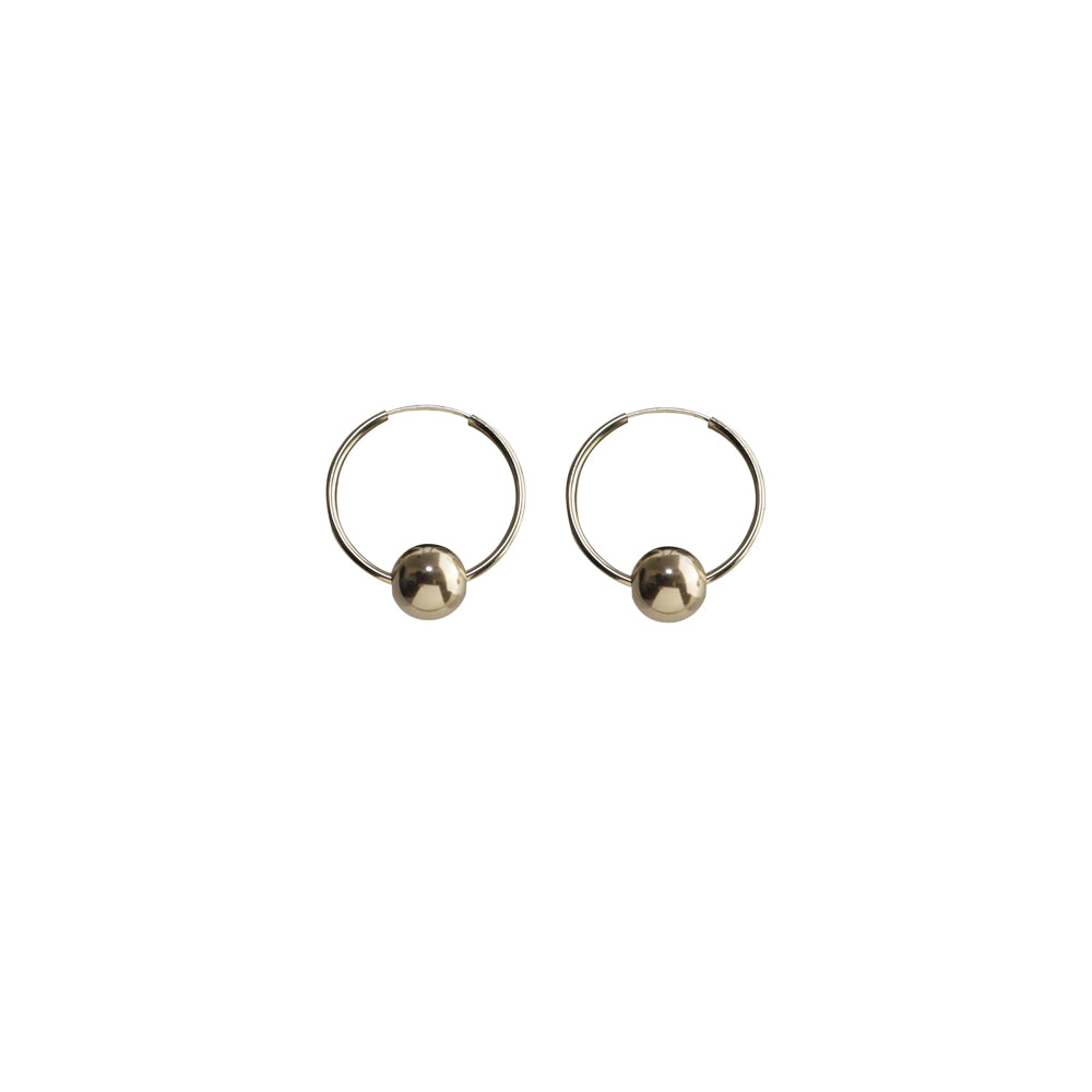 Orb Medium Hoops Earrings