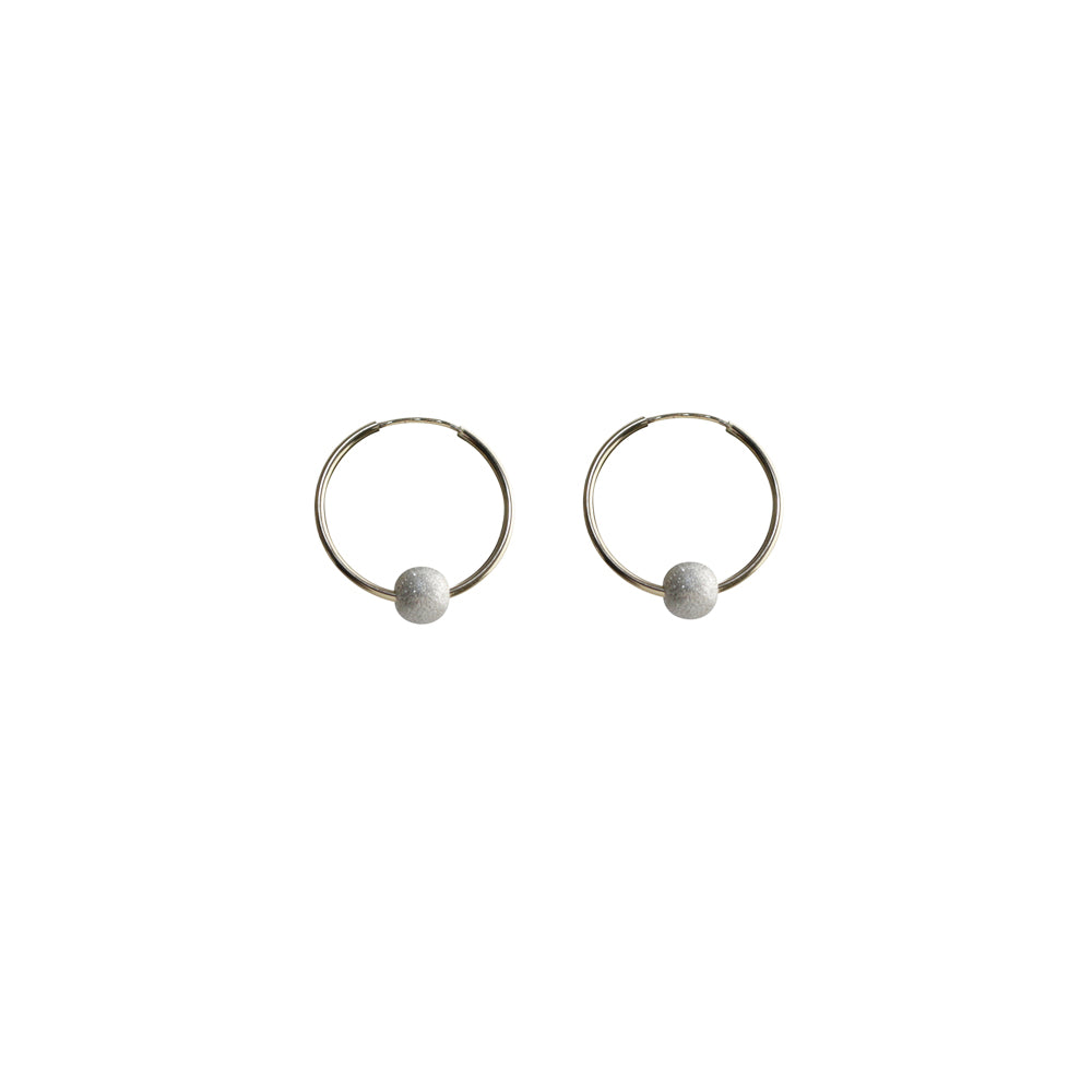 Stardust Medium Hoops Earrings