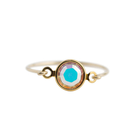 Iridescent Crystal Ring