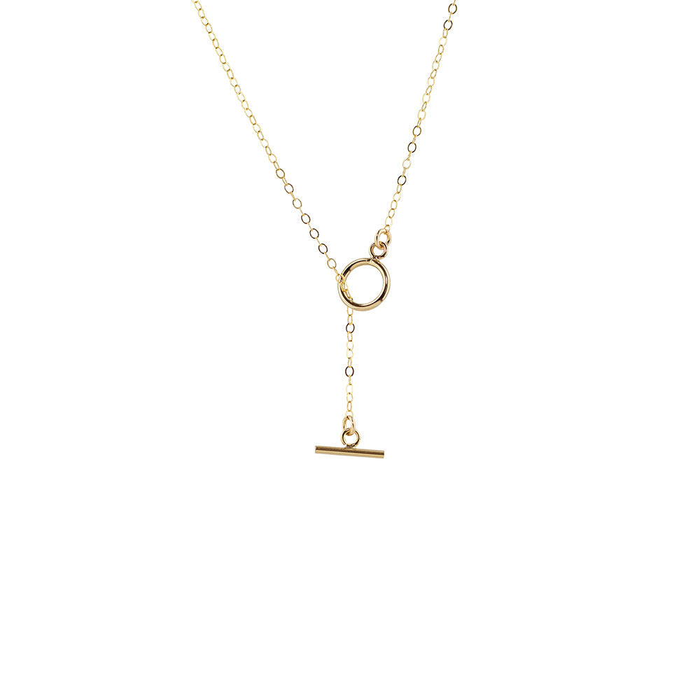 Toggle Style Drop Lariat Necklace