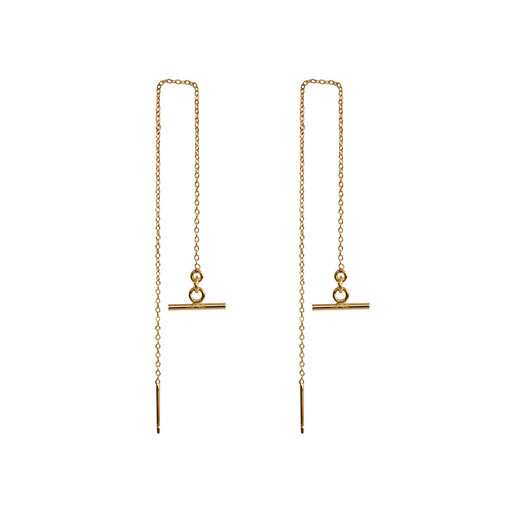 Bar Drop Threader Earrings