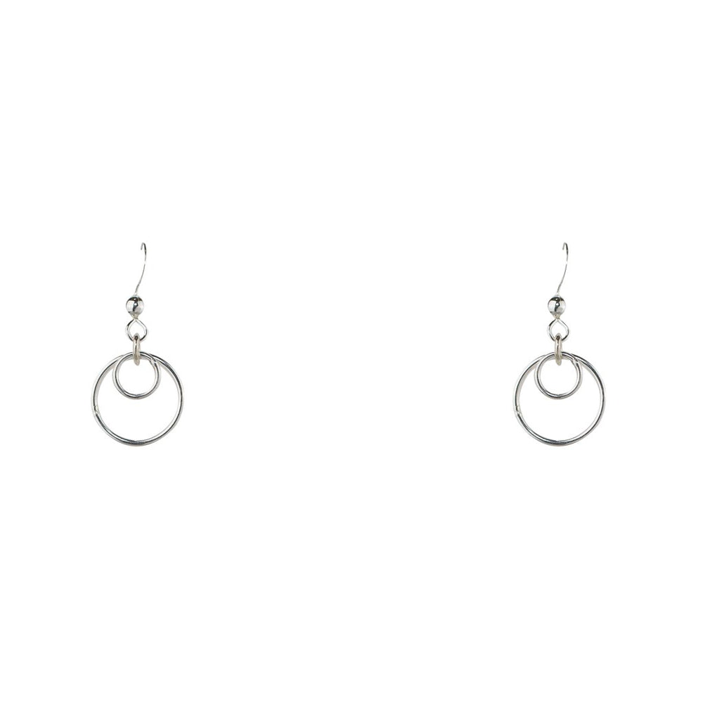 Double Interlocked Hoops Earrings