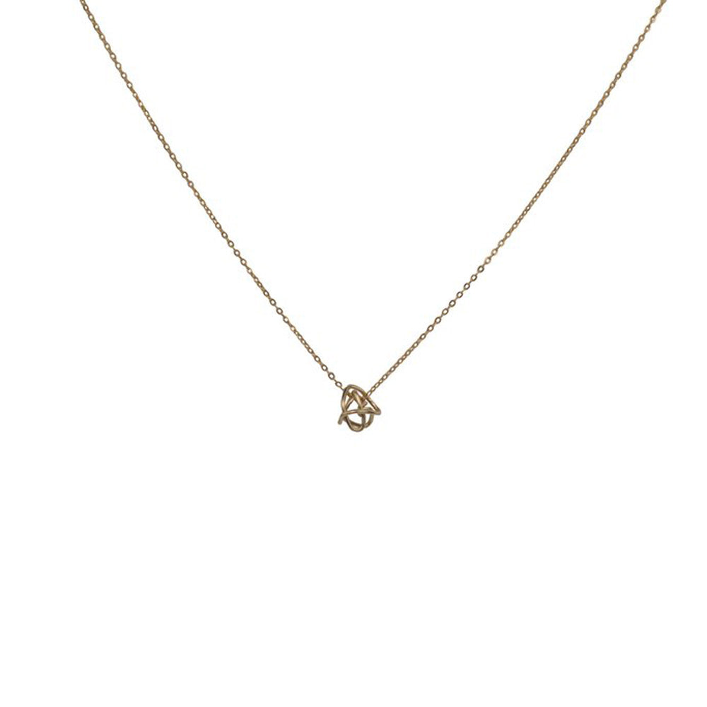 Messy Love Knot Thin Necklace