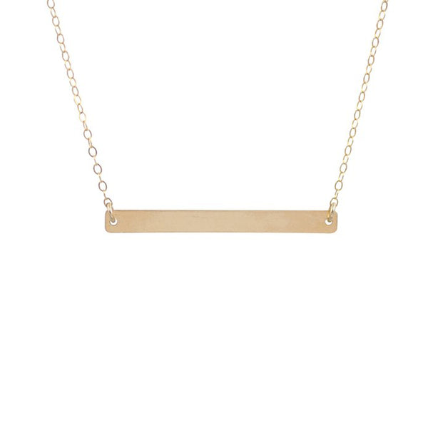 Large Thin Bar Necklace
