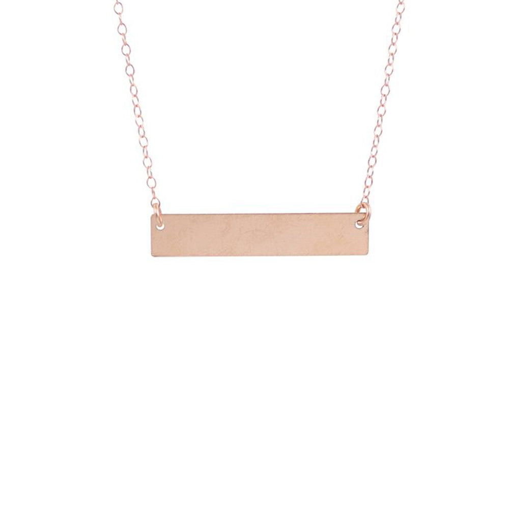 Large Thick Bar Necklace