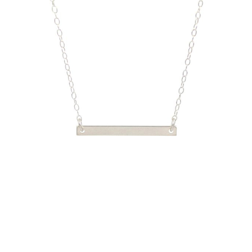 Small Thin Bar Necklace