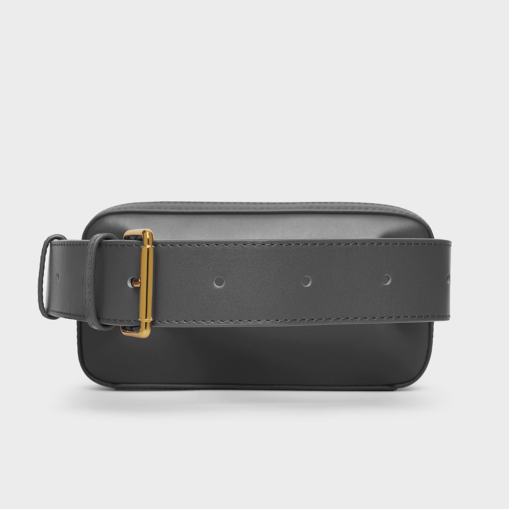 Mini Belt Bag - No° L2 - Slate Gray Smooth Nappa