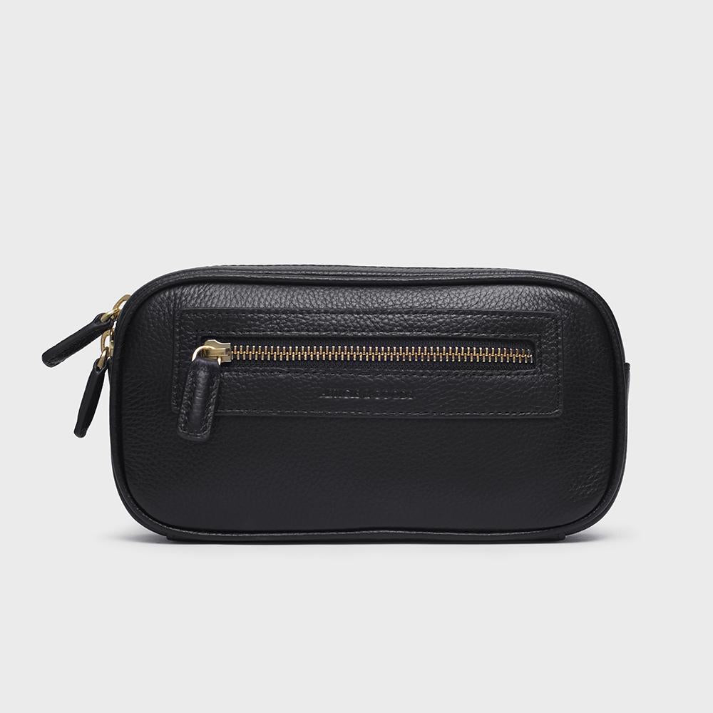 Mini Waist Belt Bag - No° M1 - Black Pebble Grain