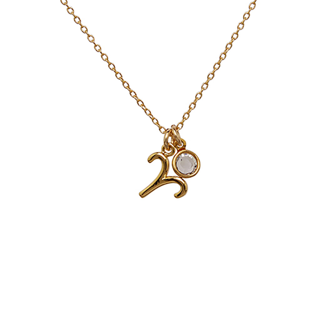 Aries + Birth Crystal Necklace