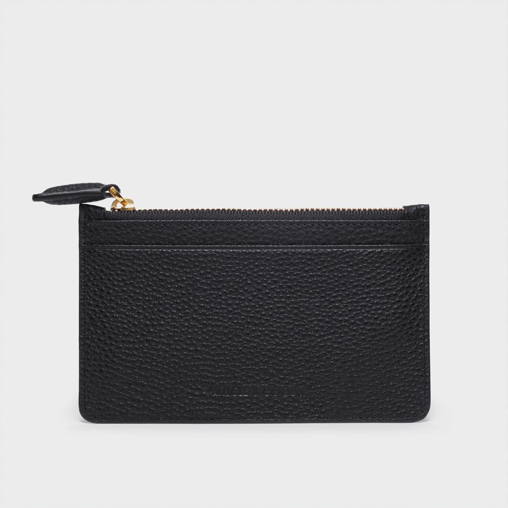 Slim Zippy Wallet - No° GG1 - Black Pebble Grain