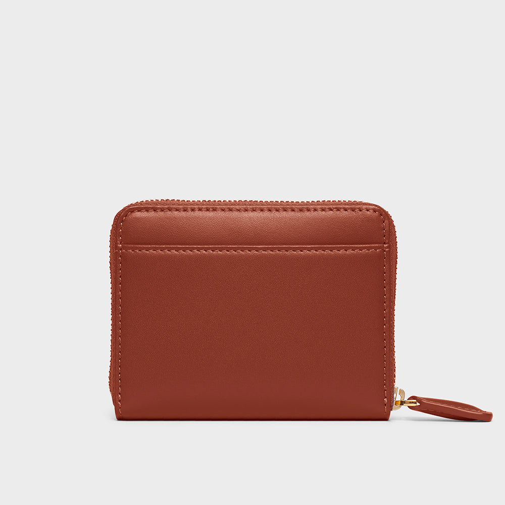 Small Zippy Wallet - No° BB2 - Mocha Brown Smooth Nappa