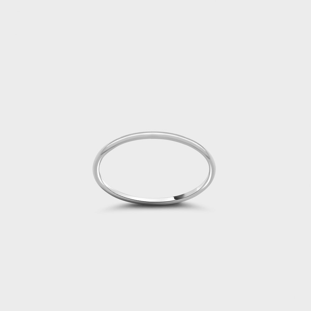 Sterling Silver Plain Smooth Band Ring