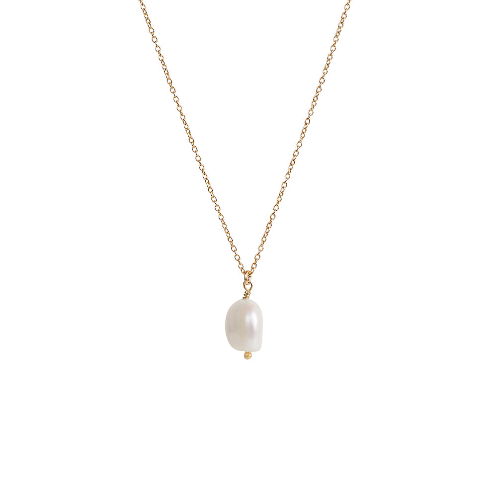 Small Fresh Water Baroque Pearl Pendant Necklace