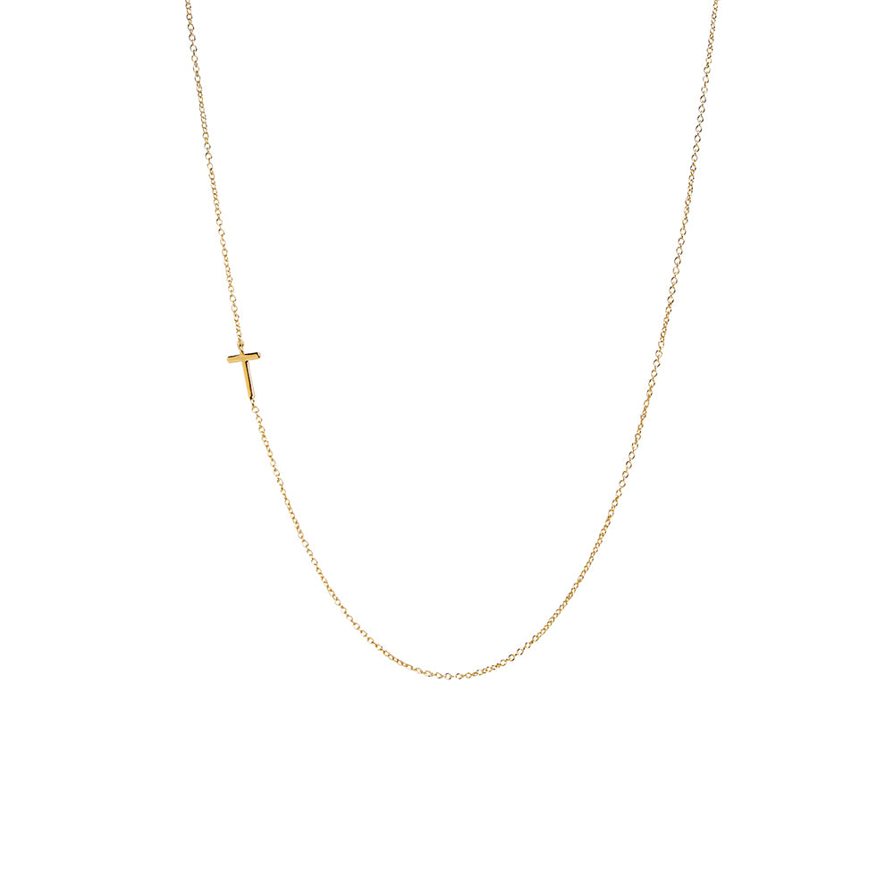 """T"" Offset Initial Necklace"
