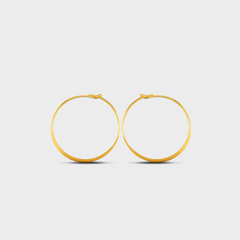 Small Flatten Wire Hoops Earrings