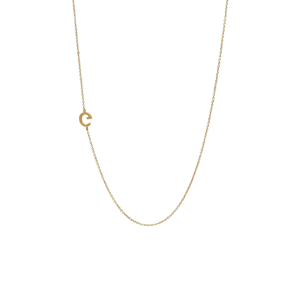"""G"" Offset Initial Necklace"