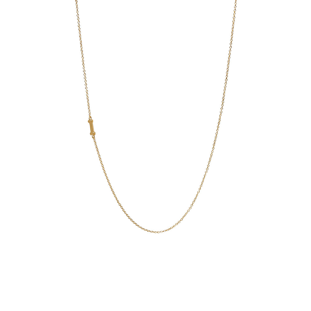 """I"" Offset Initial Necklace"