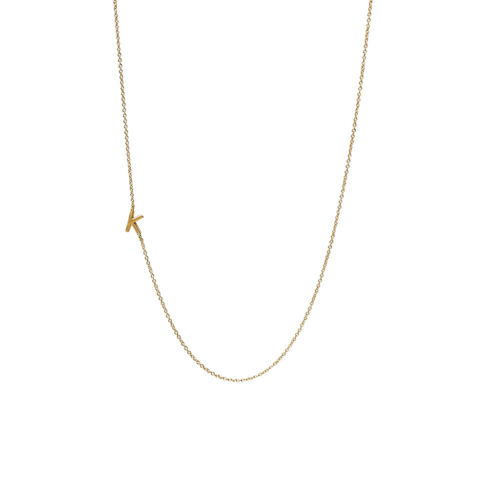 """K"" Offset Initial Necklace"