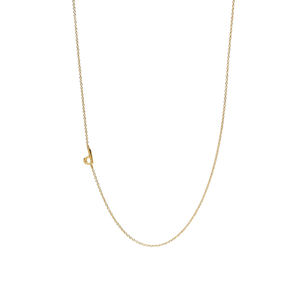 """P"" Offset Initial Necklace"