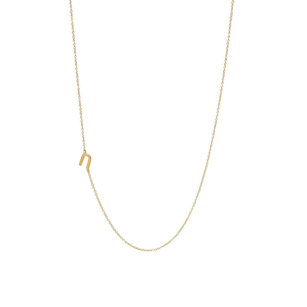 """U"" Offset Initial Necklace"