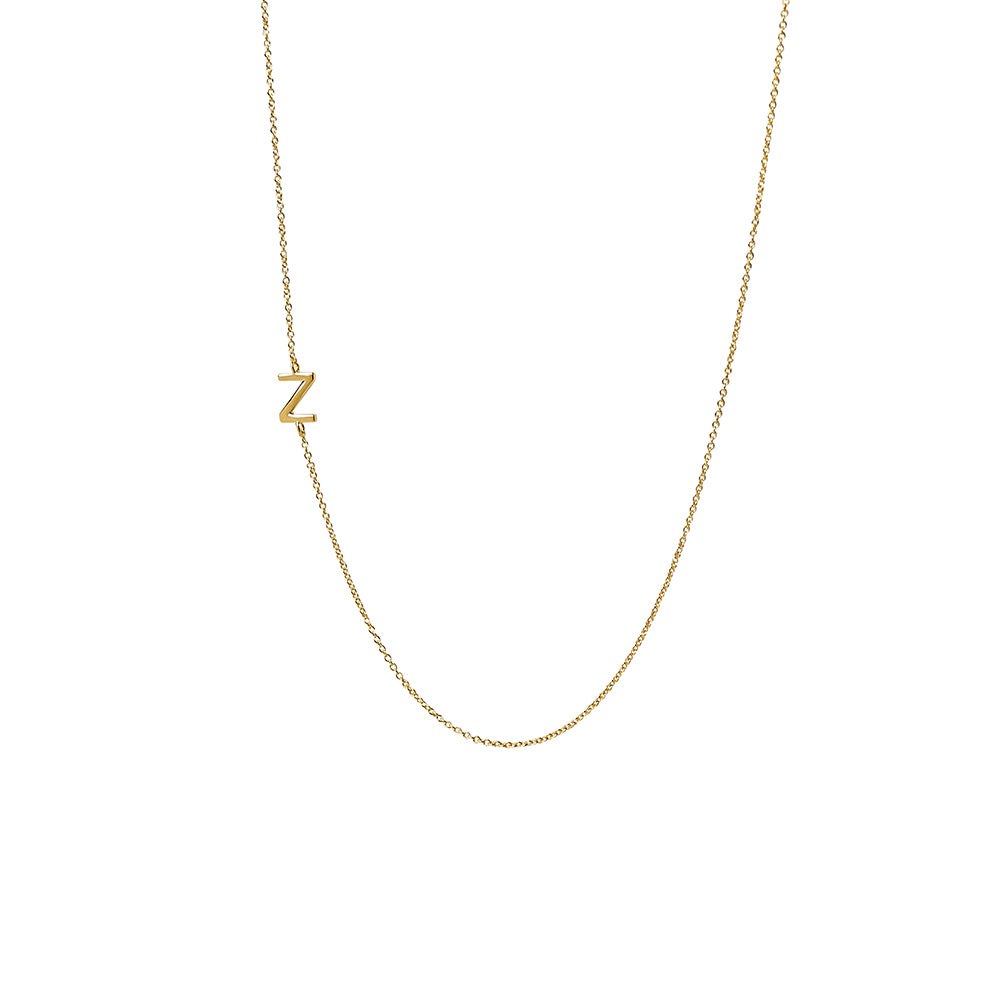 """Z"" Offset Initial Necklace"