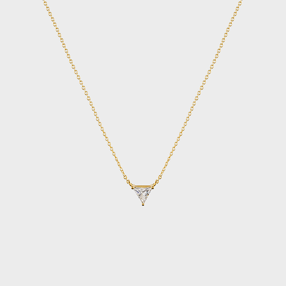 CZ Triangle Solitaire Necklace
