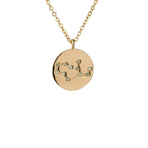 Virgo Constellation Pendant Necklace