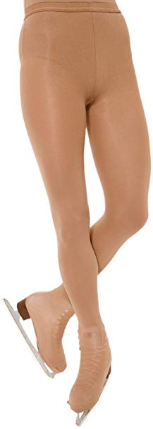 Danskin Over The Boot Ice Skating Tights Lt. Toast size 4-7