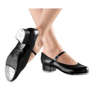 Childs Black Buckle Tap Shoes