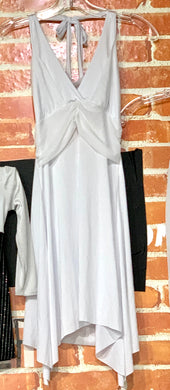 Adult White Halter Dress