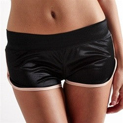 AMB Reversible Silky Shorts Black and Pink