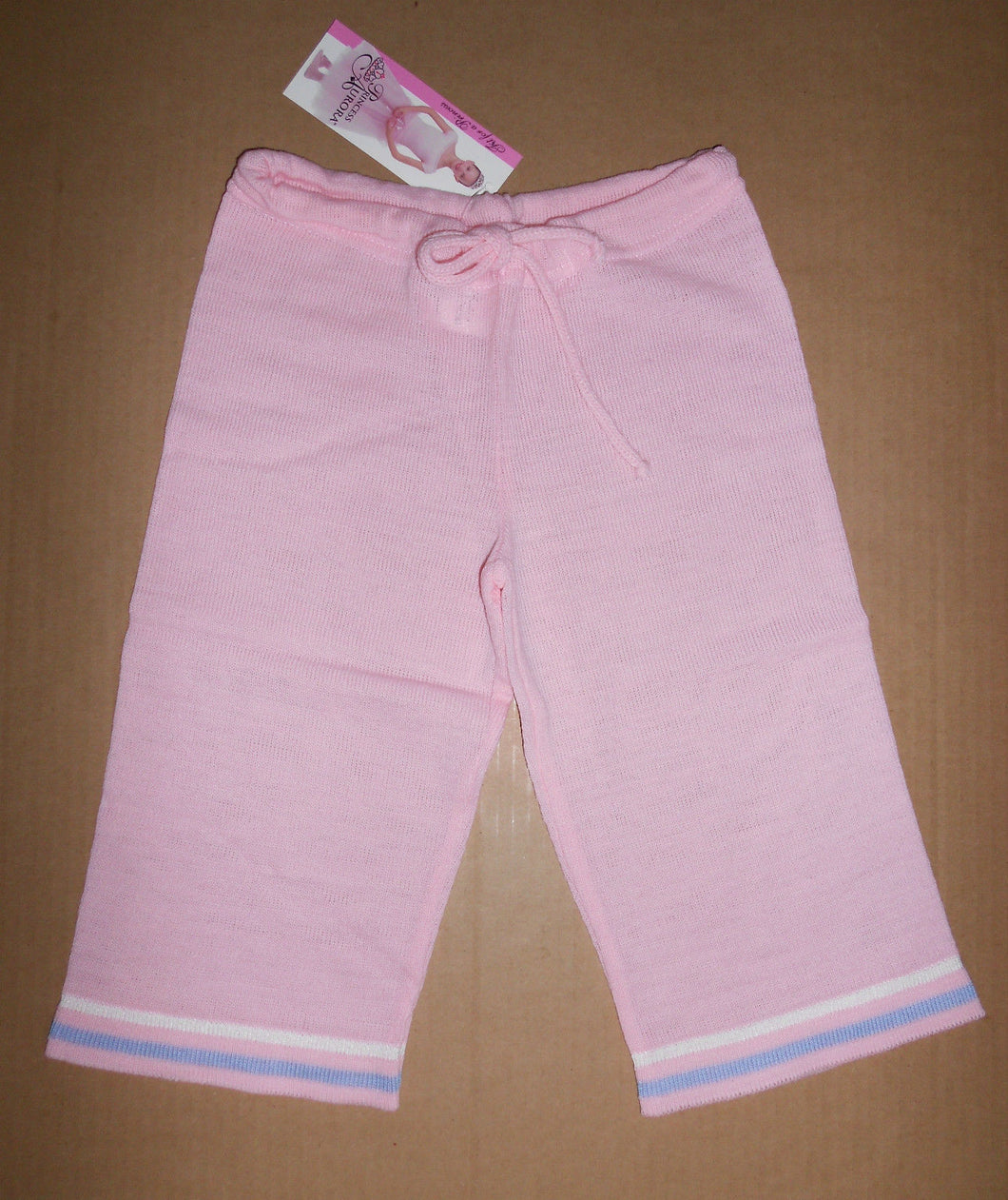 Girls Body Wrappers Knit Pants/Pedal Pushers Pink