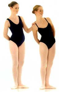 Adult Black Sleeveless Leotard