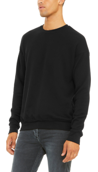 SPONGE FLEECE DROP SHOULDER SWEATSHIRT