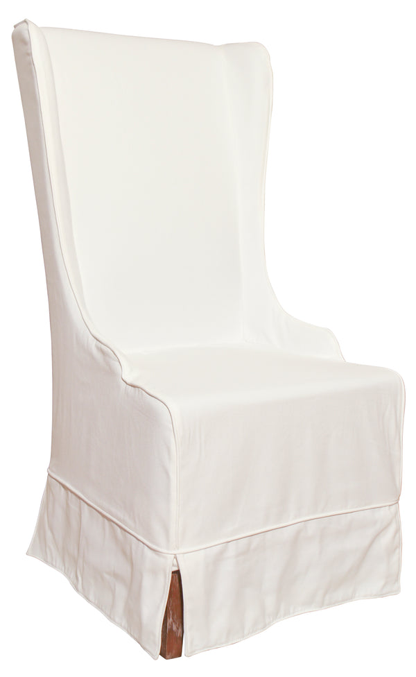 Atlantic Beach Wing Dining Chair - Sunbleached White - Padma's Plantation