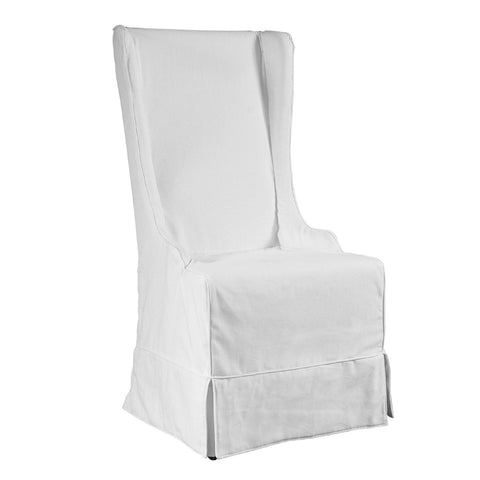 Atlantic Beach Wing Dining Chair - Slipcover only - Sunbleached White