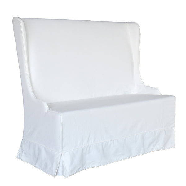 ATLANTIC BEACH DINING BENCH - SLIPCOVER ONLY - SUNBLEACHED WHITE - Padma's Plantation