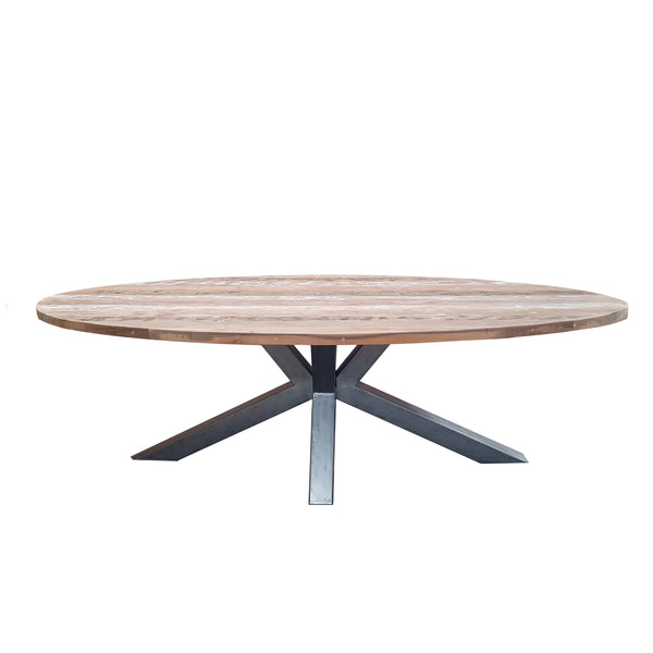 BIANCA RECLAIMED TEAK OVAL DINING TABLE - Padma's Plantation