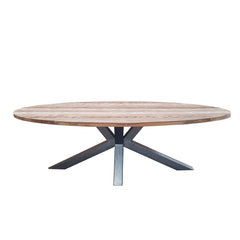 BIANCA RECLAIMED TEAK OVAL DINING TABLE
