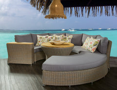 BARBADOS OUTDOOR ROUNDED SOFA - Padma's Plantation