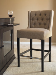 CAPTIVA ISLAND COUNTER STOOL  - MUDDY BROWN LINEN - Padma's Plantation