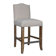 CALUSA BEACH COUNTER STOOL - BRUSHED LINEN