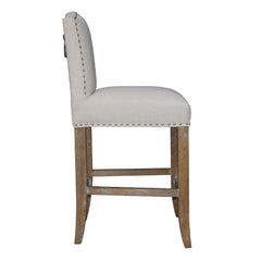 CALUSA BEACH COUNTER STOOL - BRUSHED LINEN - Padma's Plantation