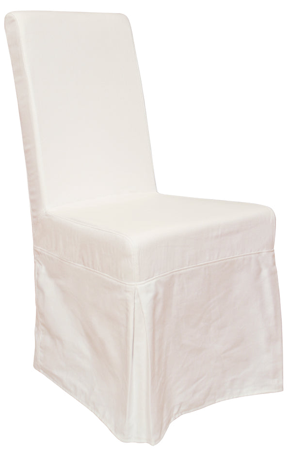 Pacific Beach Dining Chair Slipcover - Sunbleached White - Padma's Plantation