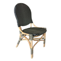 FRENCH BISTRO CHAIR -BLACK/BEIGE -SET OF 2