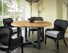 GIORGIA RECLAIMED TEAK ROUND DINING TABLE - Padma's Plantation