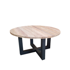 GIORGIA RECLAIMED TEAK ROUND DINING TABLE