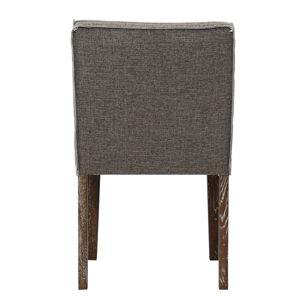 HIGGS BEACH DINING CHAIR-BROWN/WHITE TWILL - Padma's Plantation