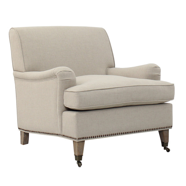 ISLAMORADA LOUNGE CHAIR - BRUSHED LINEN - Padma's Plantation